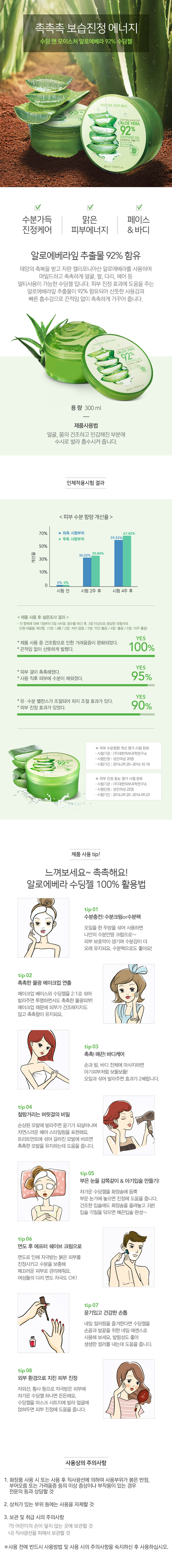Nature republic soothing and moisture aloe vera 92 soothing gel 300ml - Questions And Answers About This Item